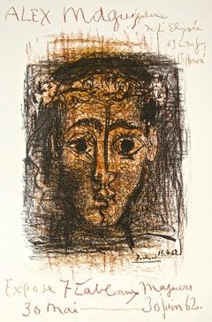 Exhibition Alex Maguy, Galerie de  l'élise - 1962 - Original Lithograph