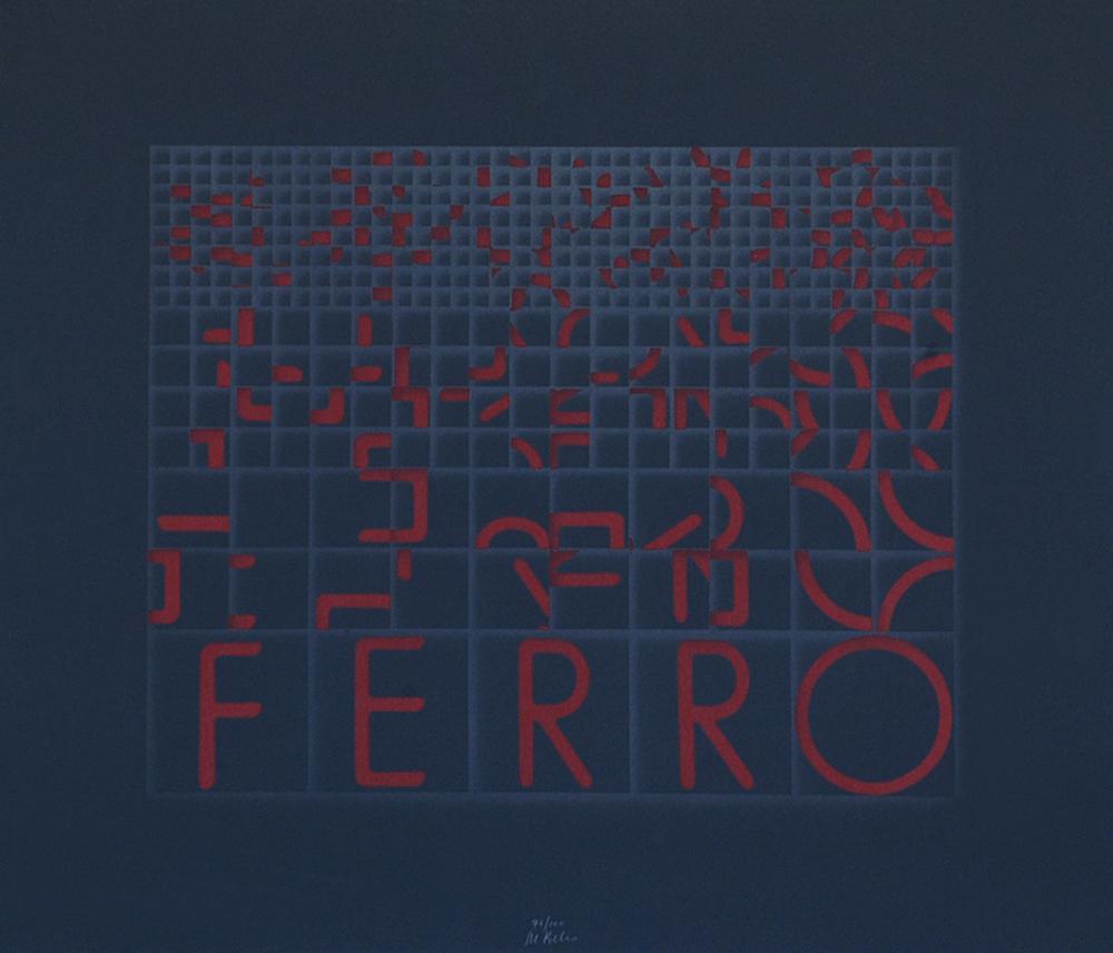 Ferro (Iron) - Original Screen Print by Bruno di Bello - 1980 ca.