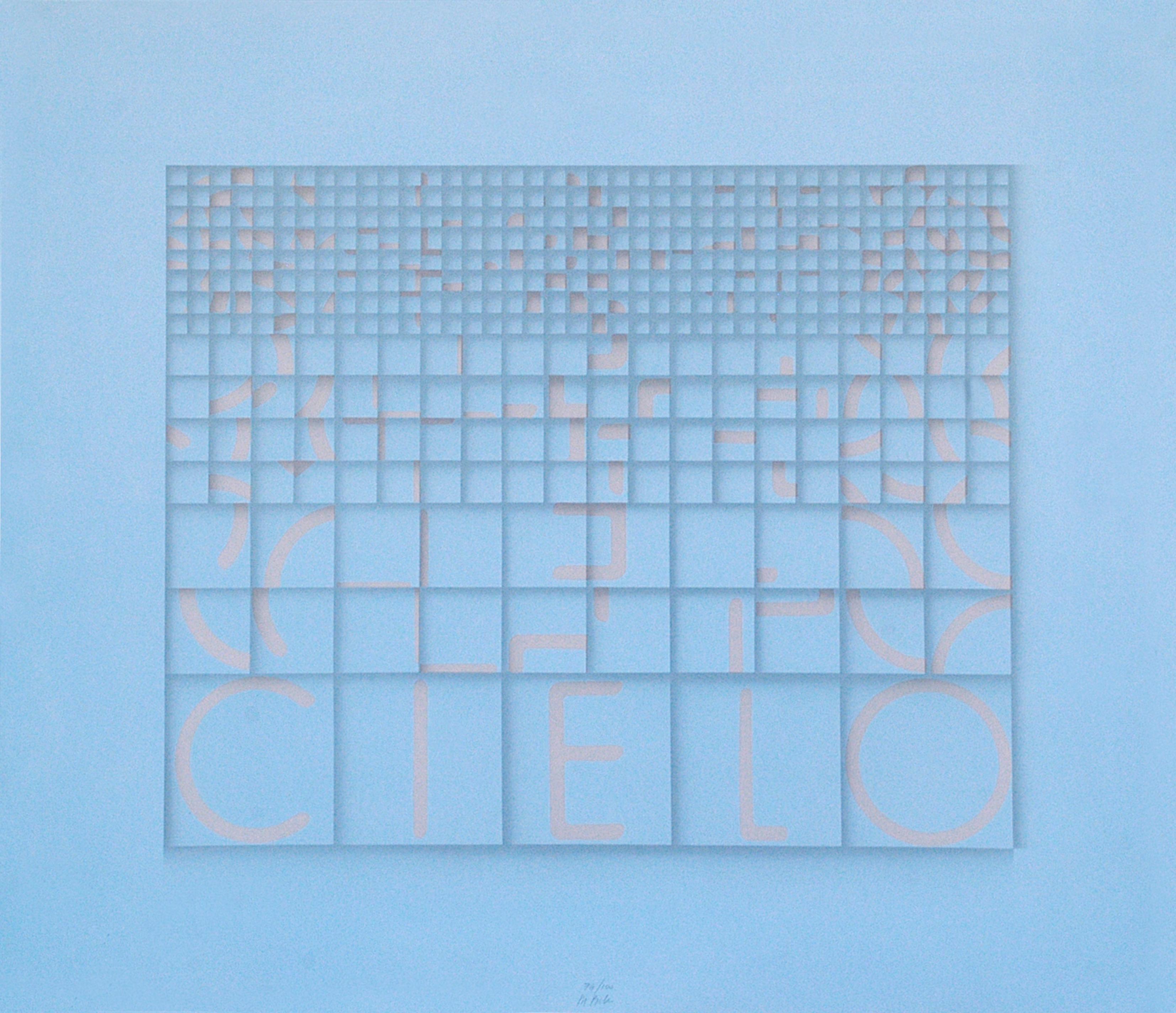 Cielo (Sky) - Original Screen Print by Bruno di Bello - 1980 ca.