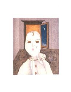 Clown - Original Lithograph by Enrico Benaglia - 1979