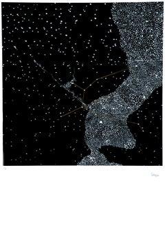 Stars - Original Lithograph by Pino Settanni - 1970 ca.