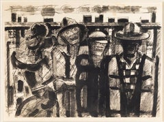 Untitled - Original China Ink by Marcel Gromaire - 1951