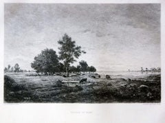 Paysage du Berri - Etching and Aquatint After Théodore Rousseau - Late 1800