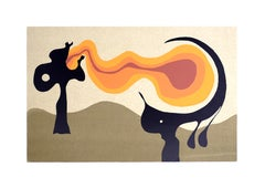 Fire Tongue - Original Screen Print by A. Knipschild - 1969