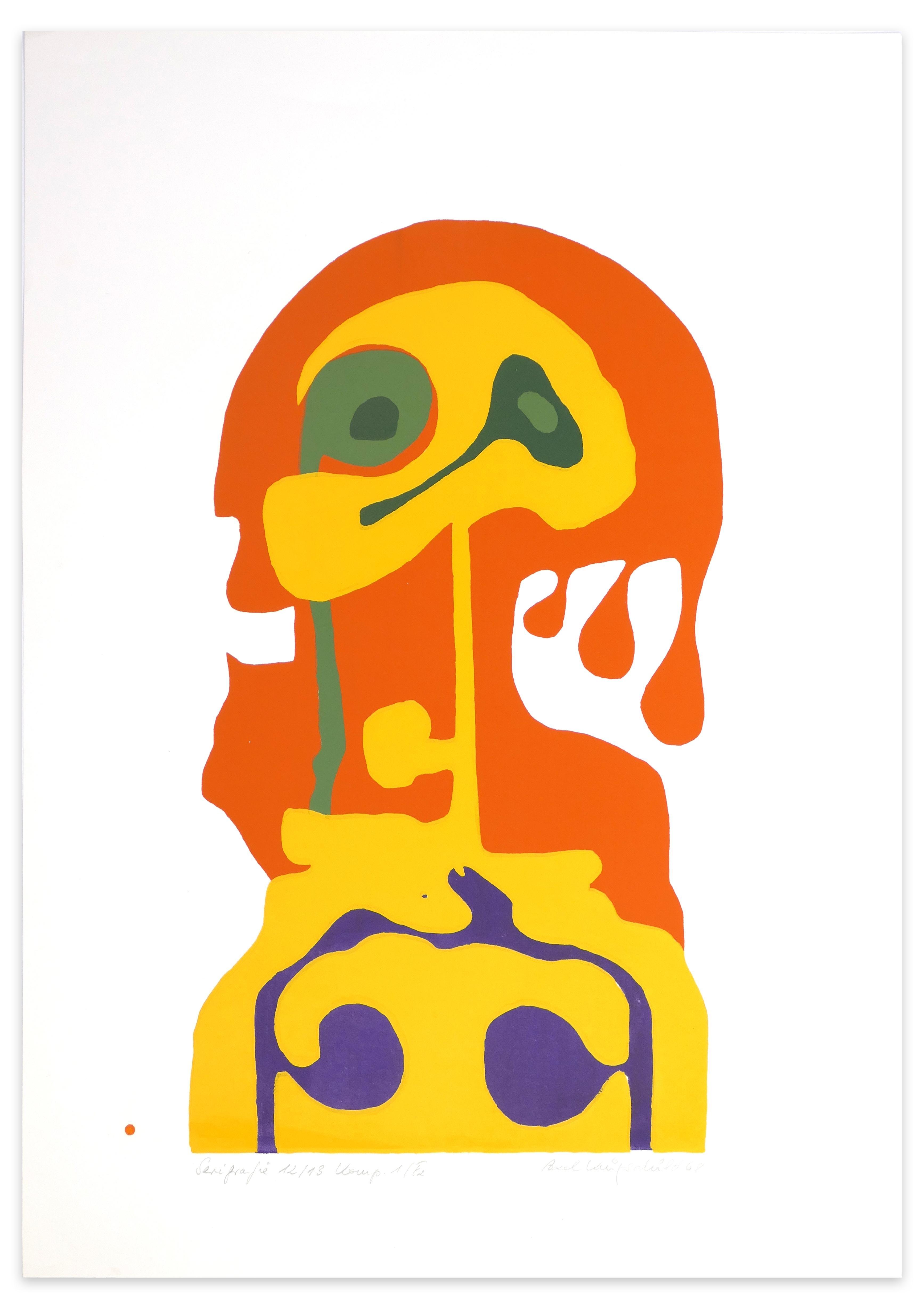Shape of Woman - Original Screen Print by A. Knipschild - 1969