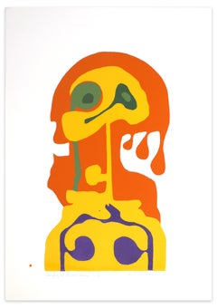 Shape of Woman - Original Screen Print by A. Knipschild - 1969