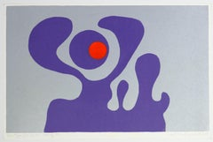 Violet Fantasy - Original Screen Print by A. Knipschild - 1969