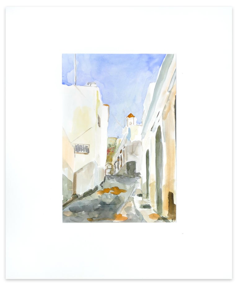 A Summer  Road - Original Watercolor by Armin Guther - 1997 For Sale 1