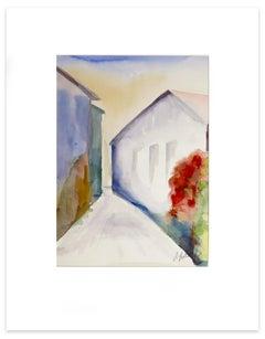 Narrow Alley - Original Watercolor by Armin Guther - 1993