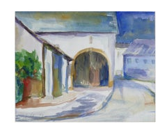 Arc and Houses - Original Watercolor by Armin Guther - 1993