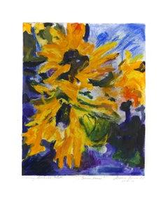 Sunflower - Original Gouache by Armin Guther - 2006