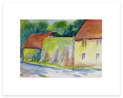 Countryside - Original Watercolor by Armin Guther - 1993