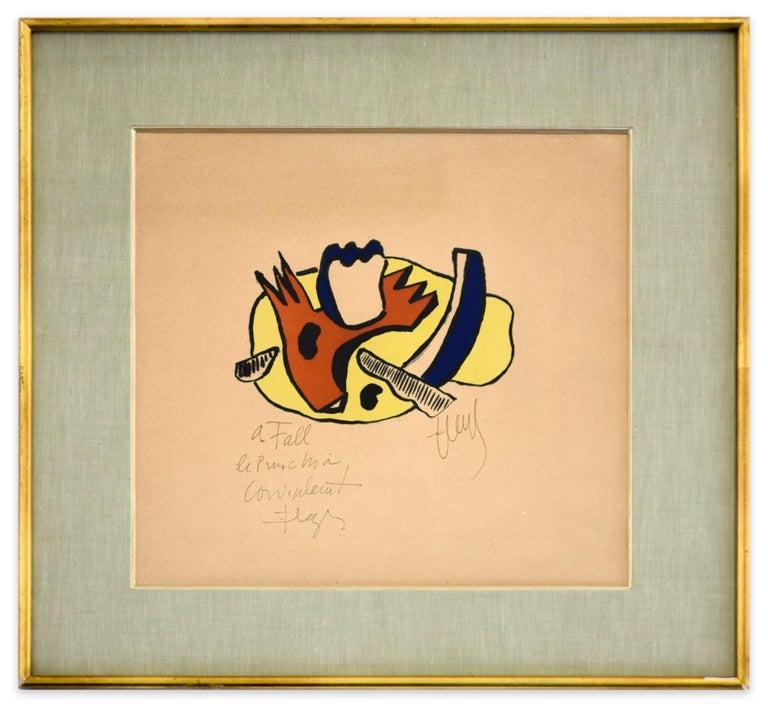 Still Life - Original Lithograph by F. Léger - 1951 - Contemporary Print by Fernand Léger
