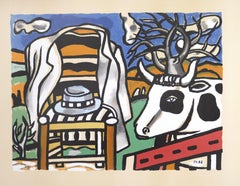 Chair, Hat And Cow In a Landscape - Original Lithograph by F. Léger - 1950s