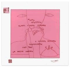 La Prima Estate - Screen Print on Acetate by E. Pouchard - 1973