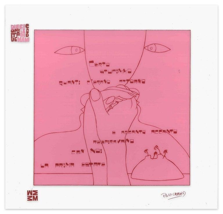 Ennio Pouchard Abstract Print - La Prima Estate - Screen Print on Acetate by E. Pouchard - 1973