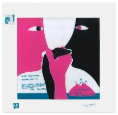 Fluire con te - Screen Print on Acetate by E. Pouchard - 1973