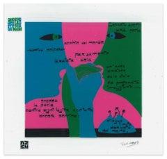 Una Perla - Screen Print on Acetate by E. Pouchard - 1973