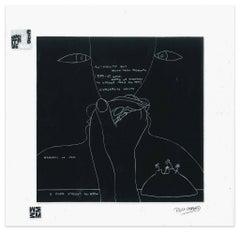 Gli Occhi  - Screen Print on Acetate by E. Pouchard - 1973