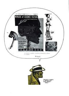 Science Fiction - Original Mixed Media by Sergio Sarri - 1978