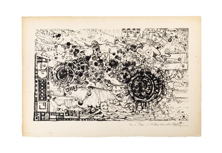Vortex - Original Lithograph by Robert Tatin - 1963 For Sale 1