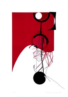 Half Red - Original Lithograph by Gianni Polidori - 1970 ca.