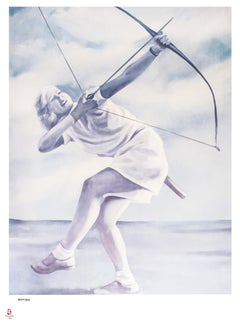 Archery - Original Lithograph by G. Montesano - 2008