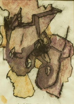 At the End of the Story - Original Watercolor on Paper - 1975