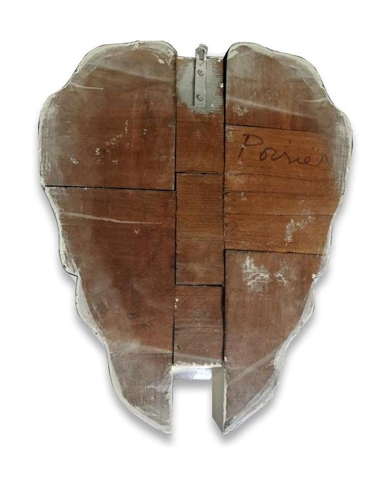 Mane (Lion) - Original Wooden Sculpture by Anne and Patrick Poirier - 1968 For Sale 3