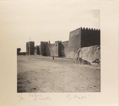A City Wall in Tunisia - Tunisiaca - Photolithograph by Bettino Craxi - 1996