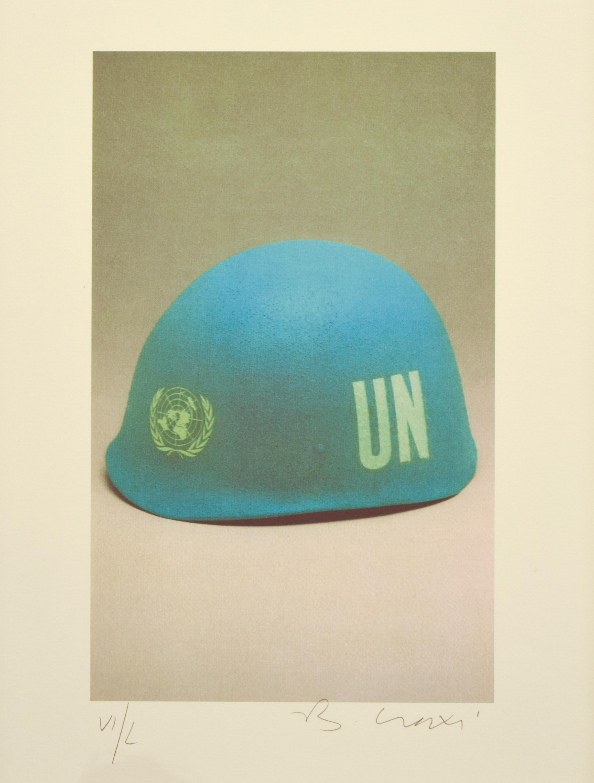 The World - Original Lithograph by Bettino Craxi - 1994