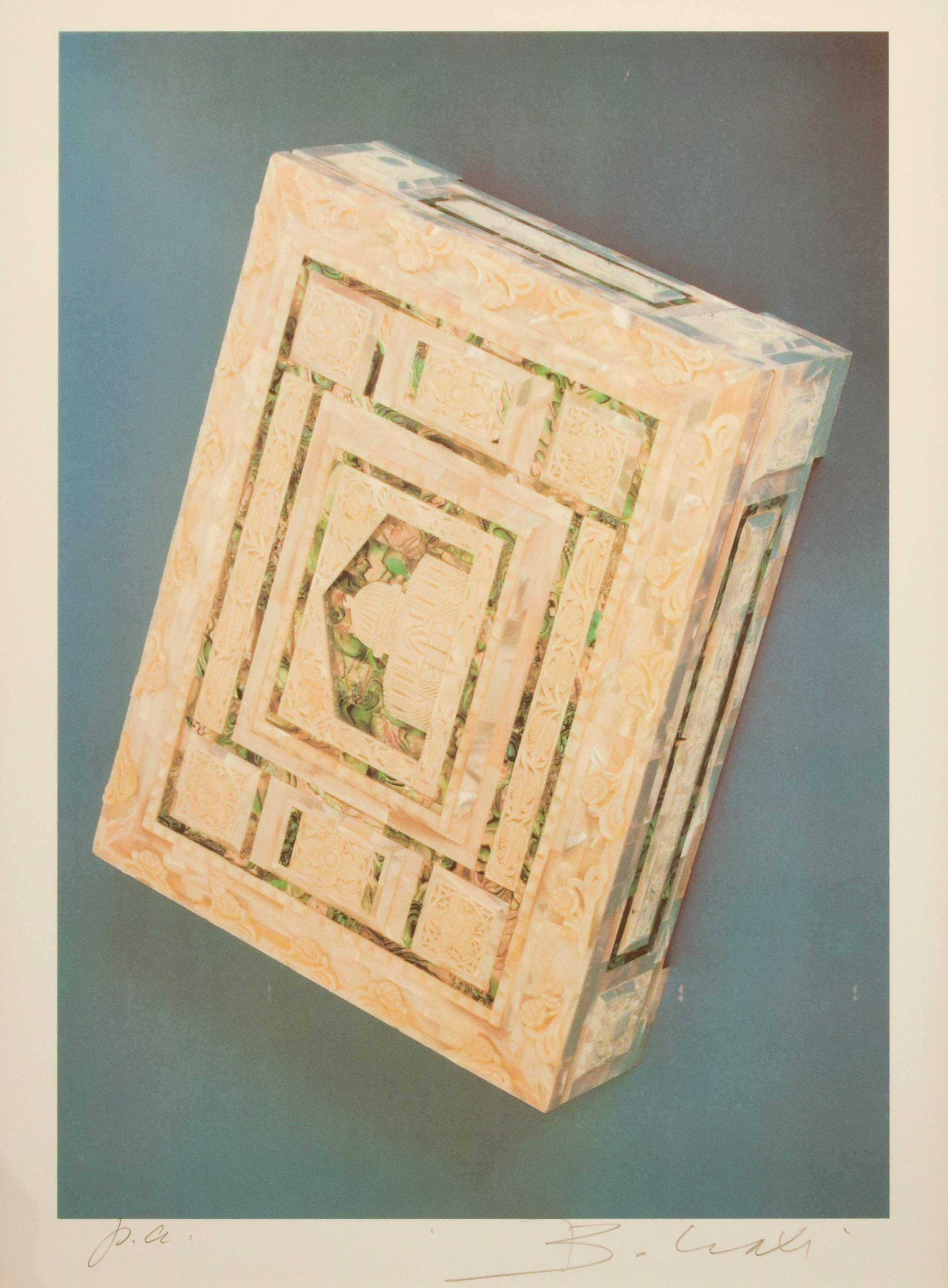 The Riffinato Casket - Original Screen Print by Bettino Craxi - 1989