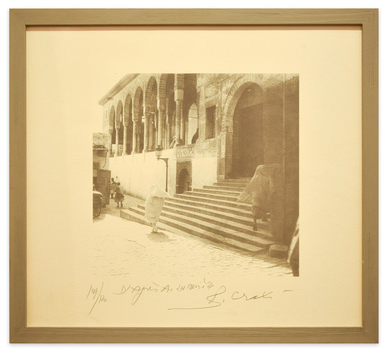 Zitouna Mosque - Tunisiaca - Original Photolithograph by Bettino Craxi - 1996 For Sale 1