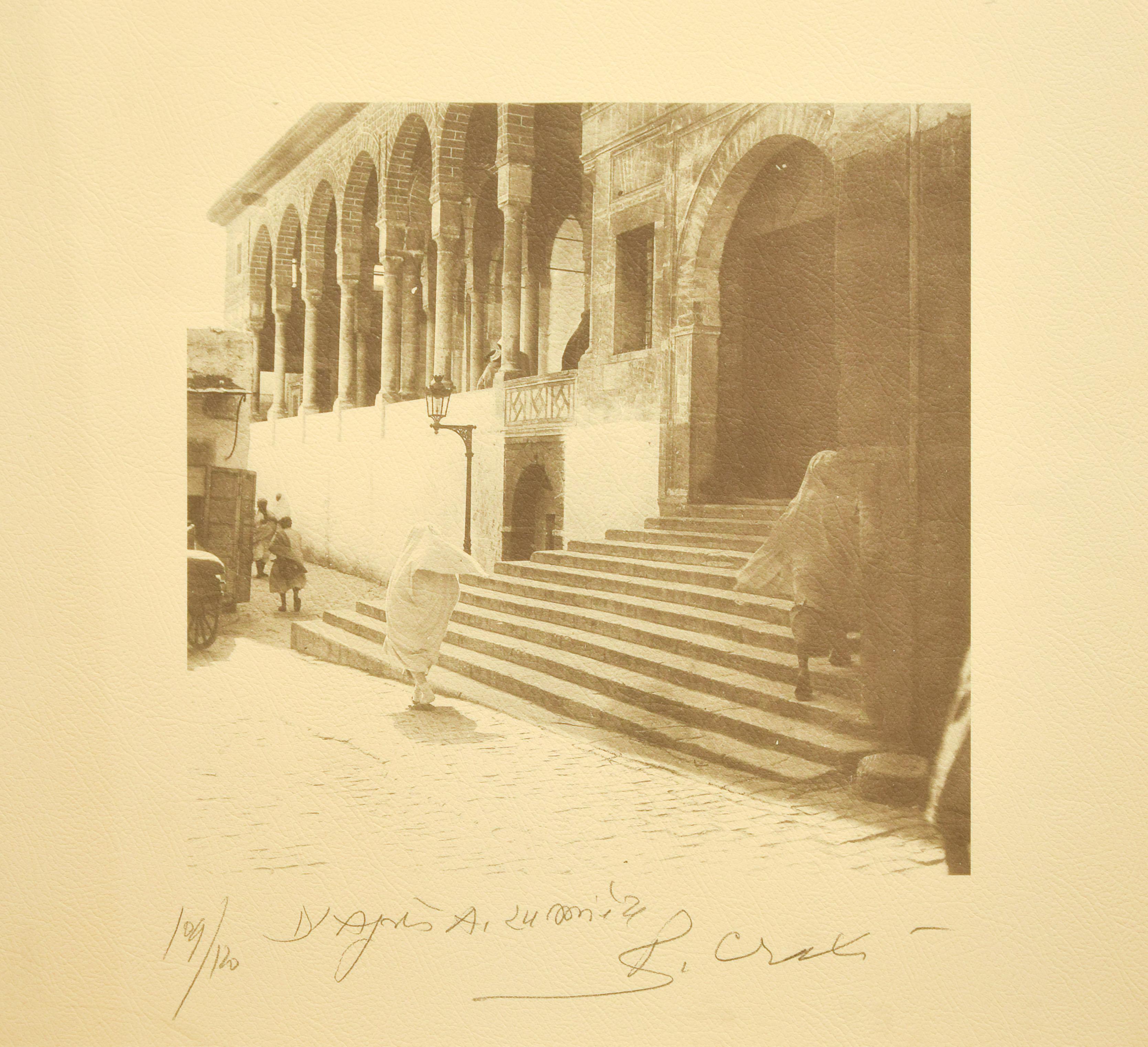 Zitouna Mosque - Tunisiaca - Original Photolithograph by Bettino Craxi - 1996