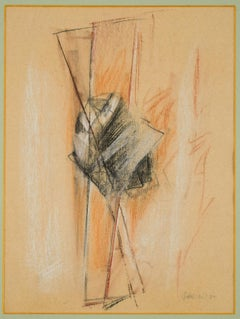 Abstract Composition - Original Pastel Drawing by Claudio Palmieri - 1989