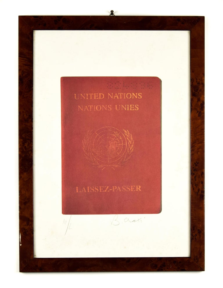 Laissez-Passer - Screen Print by Bettino Craxi - 1994 For Sale 1