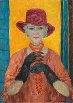 Self portrait - Original Oil on Canvas by A. Pincherle - 1992