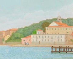 The Gulf of La Spezia - Oil on Canvas by A. Donghi - 1946