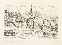 Edmone A. Ades - Etching and Drypoint by Edmone A. Ades - Mid 20th Century