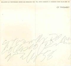 Cy Twombly Exhibition Leaflet - Galleria La Tartaruga 1958
