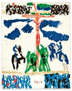 Study for a Crucifixion - Original Mixed by Antonio Vangelli - 1980s