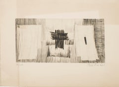 Composition - Original Etching by Pierre Fichet - 1958