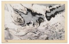 Composition - Original Tempera con Cardboard b Jean-Pierre Gras - 1950s