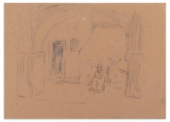 Figures - Mixed Media on Paper by A. Koopman - Late 19th Century