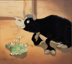 Ferdinand the Bull Production Cel and Courvoisier Background (Walt Disney, 1939)