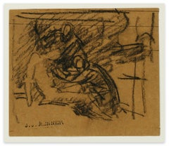 The Deposition - Original Charcoal Drawing - Late 19th Century