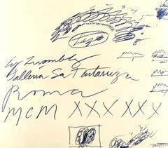 Cy Twombly Exhibition Leaflet - Galleria La Tartaruga 1960