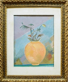 Amphora with Flowers - Original Oil on Canvas by R. Melli - 1945