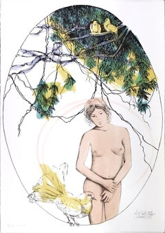 Spring - Original Hand-Colored Lithograph by A. Quarto - 1985