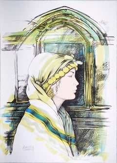 The Oriental - Original Hand-Colored Lithograph by A. Quarto - 1985